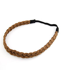 Korean fashion braid periwig charm design hair band hair accessories (Coffee)