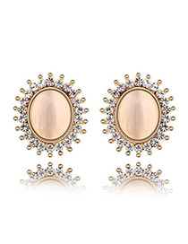 22K White Earrings Alloy Crystal Earrings