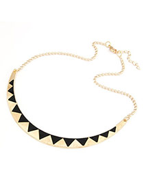 Exaggerated Black Feather Tassel Pendant Decorated Collar Necklace
