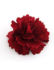 Unique Red Flower Design Cloth Hair clip hair claw
