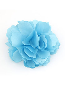 Velvet Skyblue Flower Design Cloth Hair clip hair claw