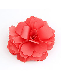 Korean sweet elegant fashion flower design brooch hair accessories (Dual Purpose)