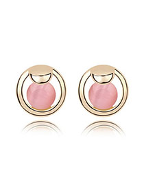 High Waist Pink Earrings Alloy Crystal Earrings