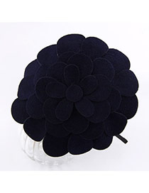 Awesome Dark Blue Flower Cotton Hair band hair hoop