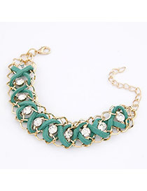 Harry Green Exquisite Weave Alloy Korean Fashion Bracelet