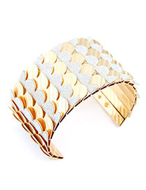 Waxing Gold Color Punk Alloy Fashion Bangles