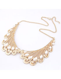 Designer ChampagneChampagne Fake Collar Alloy Bib Necklaces
