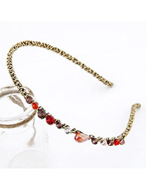 Varsity Multicolour Handmade Irregular Cz Diamond Alloy Hair band hair hoop