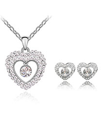 Nameplate White Set-Fish Princess Alloy Crystal Sets