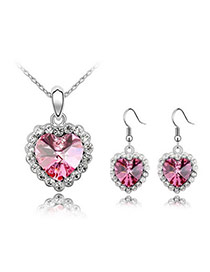 Skeleton Plum Red Set-Life Together Alloy Crystal Sets