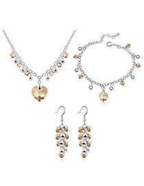 Inexpensiv Champagne Champagne Set-Charming Alloy Crystal Sets