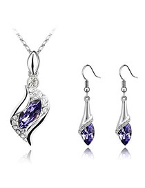 Fabulous Purple Set-Angel Alloy Crystal Sets
