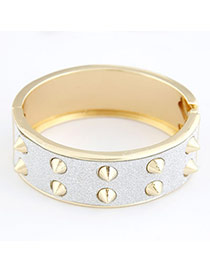 Rachel White Rivet Alloy Fashion Bangles