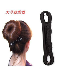 Unique Black Button Design Cloth Hair band hair hoop