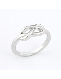 Chic Silver Color Hollow Alloy Korean Rings