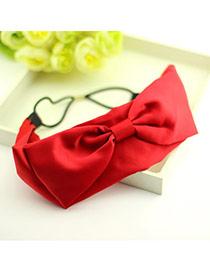 Buckle Red Bow Tie Cloth Hair band hair hoop
