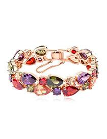 Tanzanite Multicolour Bracelet Alloy Crystal Bracelets