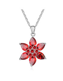 Scottish Red Champs Shadow Zircon Crystal Necklaces