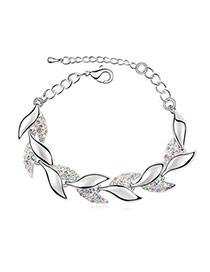 Bodybuildi Multicolour Bracelet Alloy Crystal Bracelets
