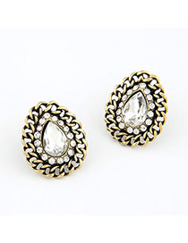 Premier Silver Color Water Drop Design Alloy Stud Earrings