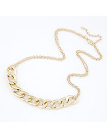 Doggie Gold Color Chain Alloy Bib Necklaces