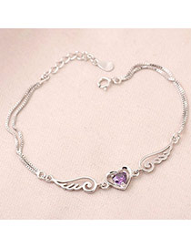 Hiking Purple Angel Wings Zircon Fashion Bracelets