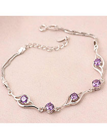 Catholic Purple Sweet Design Zircon Fashion Bracelets