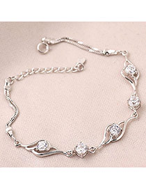 Bohemian White Sweet Design Zircon Fashion Bracelets