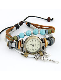 Hooters White Mulitlayer Design Pu Ladies Watches