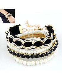 Jogging Black Elegant Multilayer Chain Design