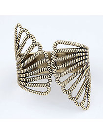 Convertibl Bronze Peacock Feather Design Alloy Fashion Bangles
