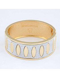 Mobile Gold Color Punk Circle Design Alloy Fashion Bangles