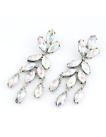 Afrocentri Multicolour Leaf Shape Design Alloy Stud Earrings