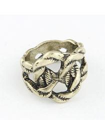 Old Bronze Vintage Weave Design Alloy Korean Rings