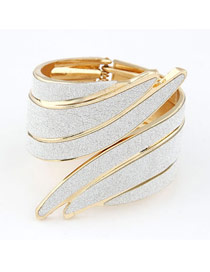 Promo White Angle Wing Shape Design Alloy Fashion Bangles
