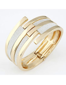 Waist Gold Color Matching Line Design Alloy Fashion Bangles