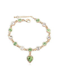 Light Olive Love Of My Life Theme Design Austrian Crystal Crystal Bracelets