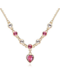 University Plum Red Love Of My Life Theme Austrian Crystal Crystal Necklaces