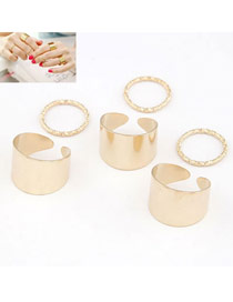 Everlas Gold Color Simple Fingernail Style (6pcs)