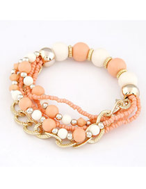 2012 Orange Bohemian Mix Style Multilayer Alloy Korean Fashion Bracelet
