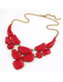 Skinny Red Matching Luxury Jewel Design