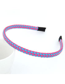 Wholesale Picture Color Fluorescence Weave Design Leather Hair band hair hoop