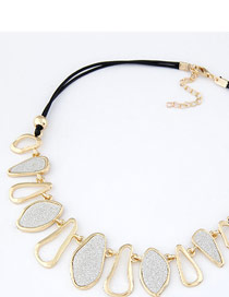Skate Gold Color Geometry Abrazine Design Alloy Bib Necklaces