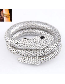 Automatic Silver Color Snake Shape Design