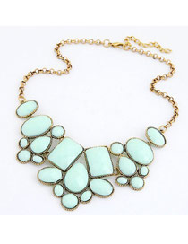 Beaded Light Blue Various Of Geometric Shape Pendant Design