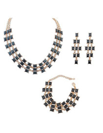 Celtic Black Multilayer Square Design Alloy Jewelry Sets