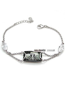 Uniqe Silver Color Twist Buckle Alloy Fashion Bracelets