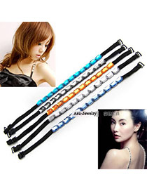 Security Color will be random Beautiful Gem  Design Alloy Fashion Shoulder Straps