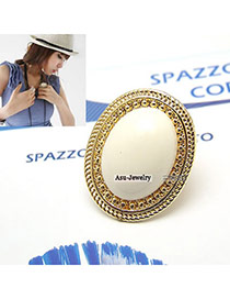 Maturnity White Oval Alloy Korean Rings