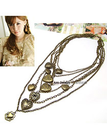 Bohemia Gun Black Pure Color Decorated Simple Hand-woven Design Necklace